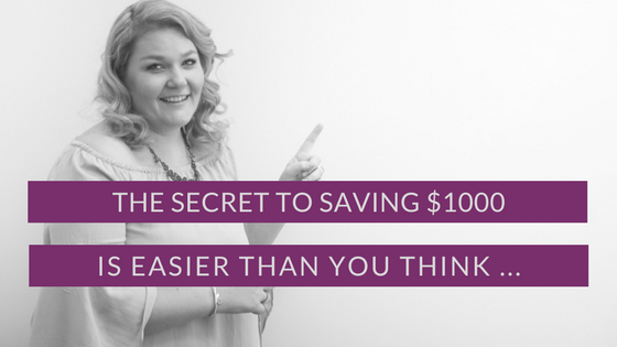The Secret To Saving $1000 Is Easier Than You Think